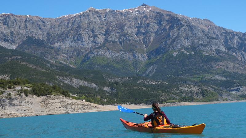 Kayak et Rando au Lac deSerre-Ponçon